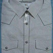 New Express Piped Fitted Western Dress Shirt Xl Nwt 70 (Casual Slim Tailored Photo