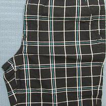 New Express Plaid Flat Front Shorts 36 Nwt 50 (Casual Checks Checkered) Photo