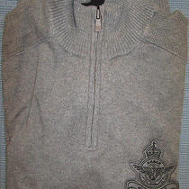 New Express Ribbed Mock Neck Sweater M Nwt 70 (Half-Zip Casual Military) Photo