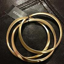 New Express Sculpted Metal Bangles Gold Bracelet- Bnwt Photo