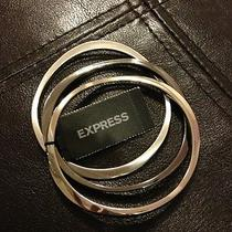 New Express Sculpted Metal Bangles Silver Bracelet- Bnwt Photo