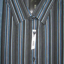 New Express Striped Fitted Casual Dress Shirt M Nwt 60 (Tailored Work) Photo