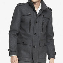 New Express Tech 248 Gray Water Resistant Military Jacket Coat Sz S Small Photo