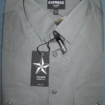 New Express Tx8 Casual Western Shirt S Nwt 60 (Modern Fit Cowboy Dress Shirt Photo