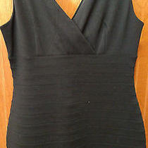 New Express Women's Sleeveless Ribbed Lined Black Dress in Size Medium Photo