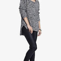 New Express Womens Black Slip on Smooth Coated Casual Scuba Leggings Pants Sz M Photo