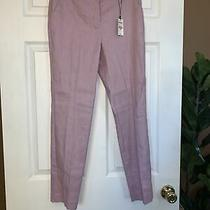 New Express Womens Dress Pants Columnist Ankle Mid Rise Stretch Lilac Sz 4 Photo