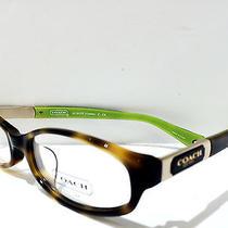 New Eyeglasses Coach Hc 6037f (Kinslee) 5052 (Tortoise) 53-16 140 Photo