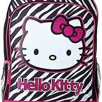 New Fab Starpoint Little Girls Hello Kitty Black and White Zebra Backpack Photo