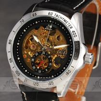 New Fancy High-End Men Auto Mechanical Wrist Watch Leather Stainless Steel Band  Photo