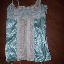 New Fantasy Lingerie Baby Blue White Lace Sexy Nightie Babydoll Corset Size 3x  Photo
