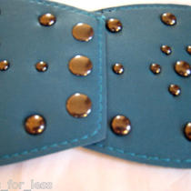 New Fashion Ladies Trendy  Wide Metal Rivets Elastic Stretch Belt   Photo