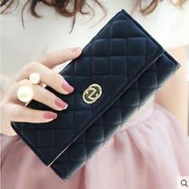 New Fashion Women Clutch Bifold Prism Grid Wallet Handbag Card Holders Gift Pu  Photo