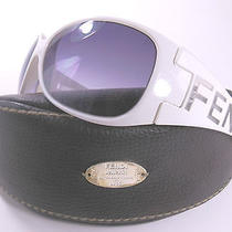 New Fendi Cold Insert Fs388 White Oversized Sunglasses Made in Italy  Case Photo