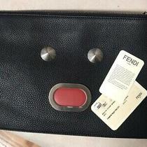 New Fendi Faces Leather Zip Pouch Clutch 950.00 Photo