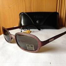 New  Fendi - Fs182 - Sunglasses Wine Wine  Frame / Grey-Bronze Lens Photo