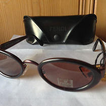New  Fendi - Fs187 - Sunglasses Chocolate Brown Brown Frame / Brown Lens Photo