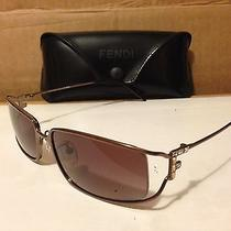 New  Fendi - Fs282 - Sunglasses Brown Chrome Frame / Brown-Rose Lens Photo