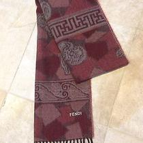 New Fendi Red Ff Acrylic Wool Scarf Photo