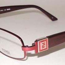 New Fendi Shiny Metallic  Red Metal Eyeglass Frame With Silver  F905 Photo