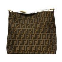 New Fendi White Leather Borsa Hobo Tote Bag Photo