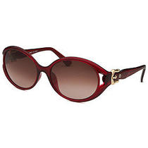 New Fendi Women's Round Red Sunglasses Buckle Adornments Photo
