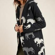 New Field Flower Anthropologie Sedona Wool Sweater Coat Petite Large Photo