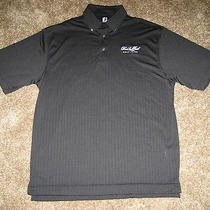 New Foot Joy Fj Button Polo Red Tail Avon Golf Club Course Black Men Large L Photo
