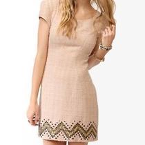 New Forever 21 Blush Boucle Embellished Dress Sz Xs  Photo