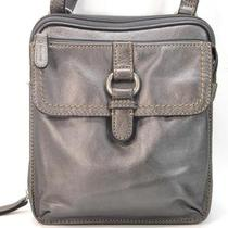 New  Fossiil Gray Pewter Messenger Crossbody Bag Handbag Photo