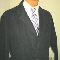 New Fossil 54 Mens Blazer Jacket Size Xl Bushed Black Cotton  Photo