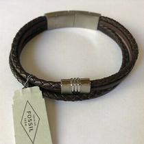 New Fossil Adjustable Length Bracelet Genuine Leather - Nwt Photo