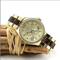 New Fossil Am4499 Cecile Multifunction Women's Gold Tortoise Quartz Watch Photo