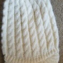 New Fossil Betina Carnaby Pristine Ivory Knit Beanie Winter Hat Photo