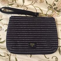 New Fossil Black Dotted Wristlet Photo