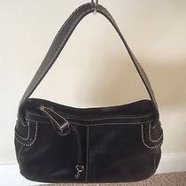 New Fossil Black Leather Handbag Photo
