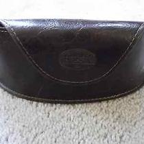 New Fossil Brown Faux Leather Sunglass/eye Glass  Photo