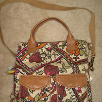 New Fossil Crossbody Multi Color Print Purse Bag  Photo