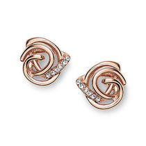 New Fossil  Earring  Glitz Knot Studs Rose Gold Jf02252791 Photo