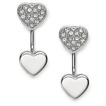 New Fossil Earring Heart Studs Jf02266040 Photo