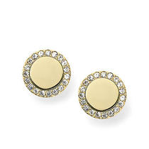 New Fossil Earring Heritage Studs Jf02256710 Photo