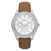 New Fossil Es2996 Brown Stella Leather Watch Photo