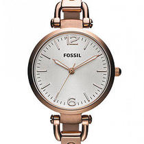 New Fossil Es3110 Georgia Rose Gold Stainless Steel Womens Watch Photo