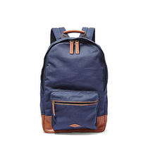 New Fossil Estate Backpack Unisex Canvas Nwt in Navy Blue Original Packaging Photo
