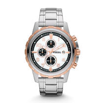 New Fossil Fs4722 Chronograph Dean Stainless Steel Men's Watch Photo