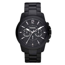 New Fossil Fs4723 Grant Black Stainless Steel Mens Watch Photo