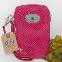 New Fossil Fuchsia Universal Case Carryall Wallet Wristlet Iphone 4s 5 Sl4044690 Photo