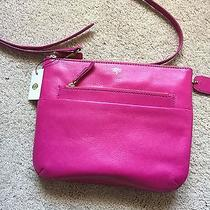 New Fossil  Genuine Leather Pink  Color Cross Body Bag