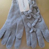 New Fossil Gloves Ladies Osfa S M L Shine 40 Retail Grey Photo
