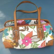New Fossil Handbag Purse Leather Genuine Gift Island Flower Design Free Shipping Photo